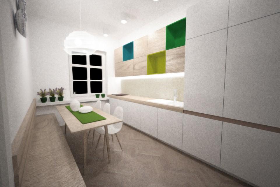 Augustovy byt_kuchyna od dveri
